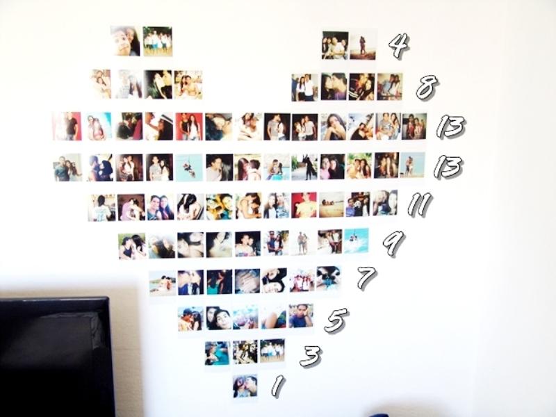 Mural de Fotos em coração para o Dia dos Namorados