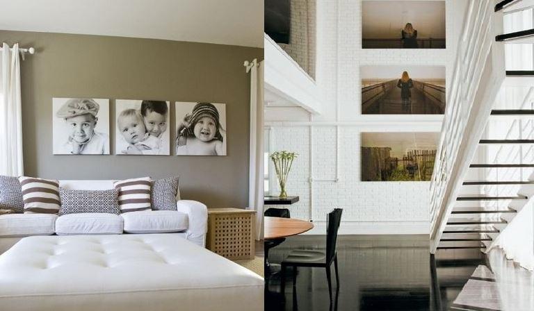 Decorar a casa com fotos - painel fotografico