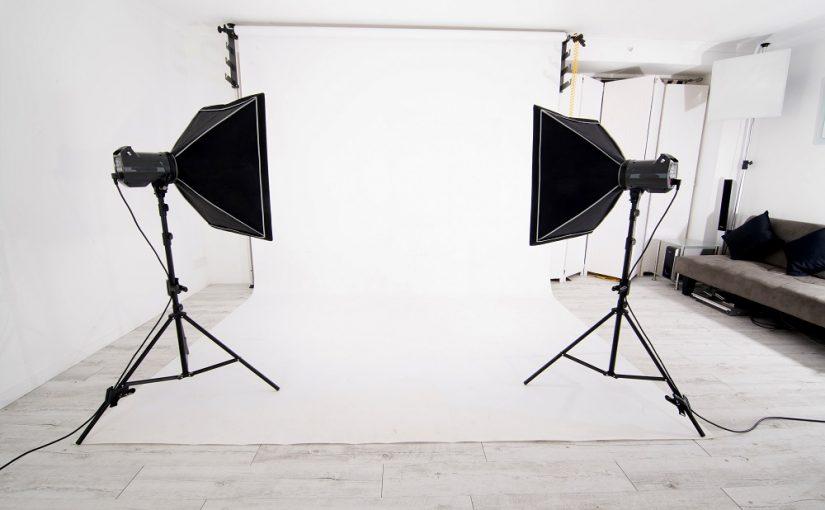estúdio caseiro para fotografar