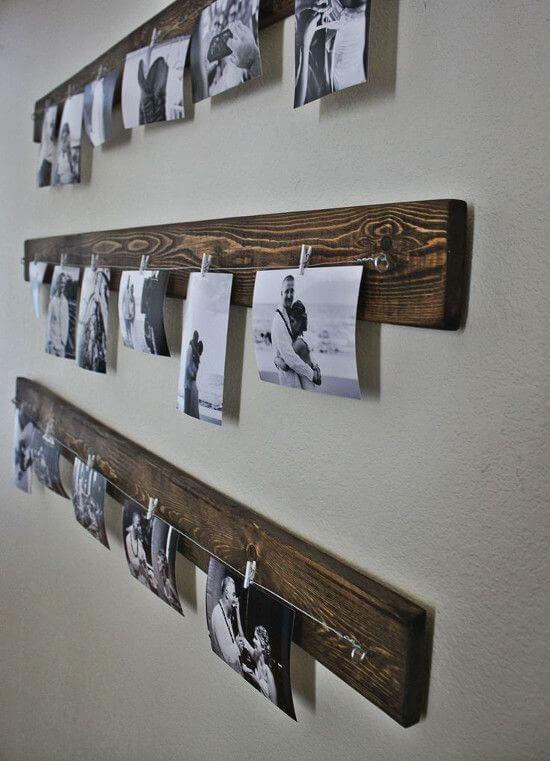decoracao-com-fotos-polaroid-varal-de-madeira