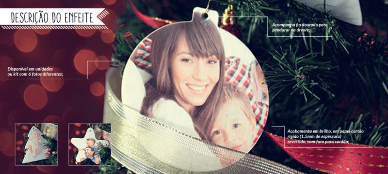 Enfeites de Natal com Foto