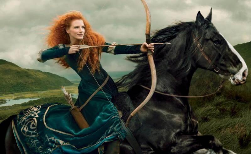Jessica Chastain, Brave, por Annie Leibovitz