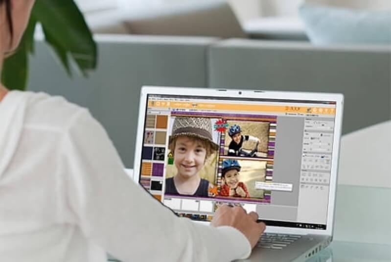 Software para edição de layouts para Fotolivros.