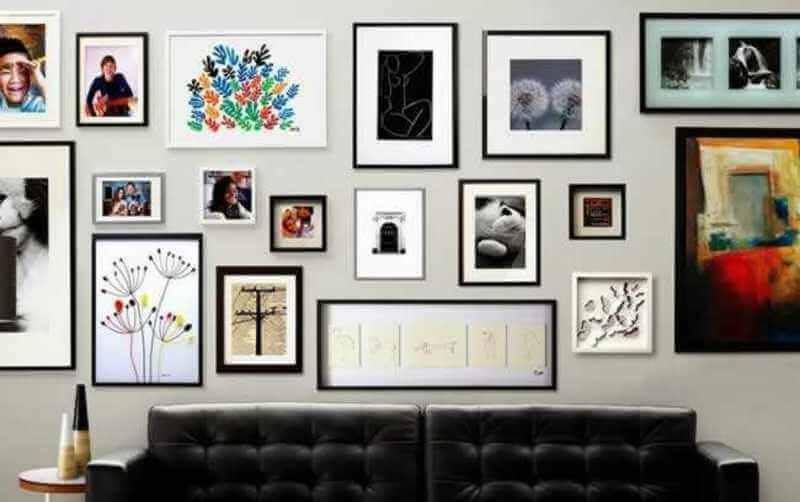 7 ideias de decoração com fotos na parede