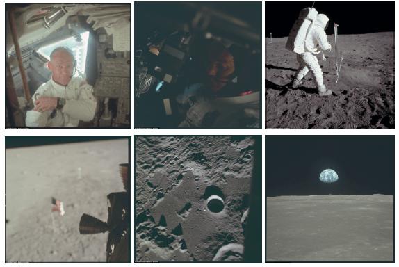 Fotos do homem na lua