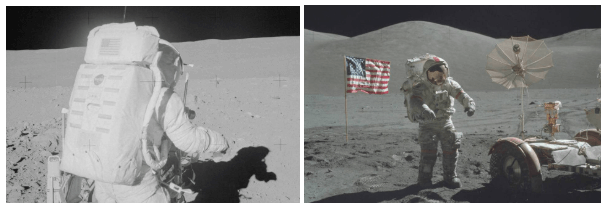 Bandeira na lua