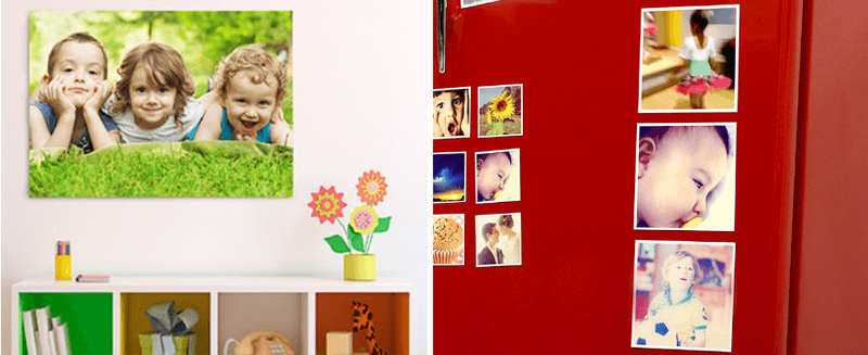 Usando as fotos para decorar a casa