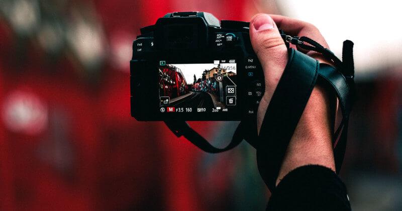 Tela da câmera captando imagem