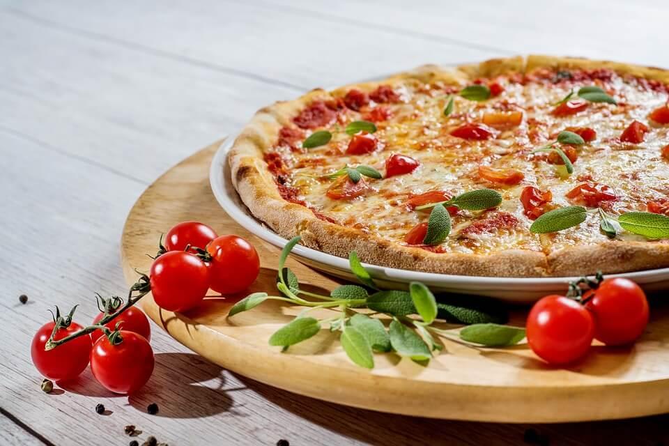 Fotografia comercial de pizzas