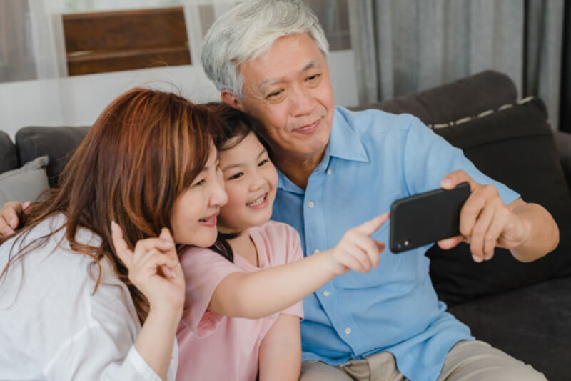 Selfie com avós