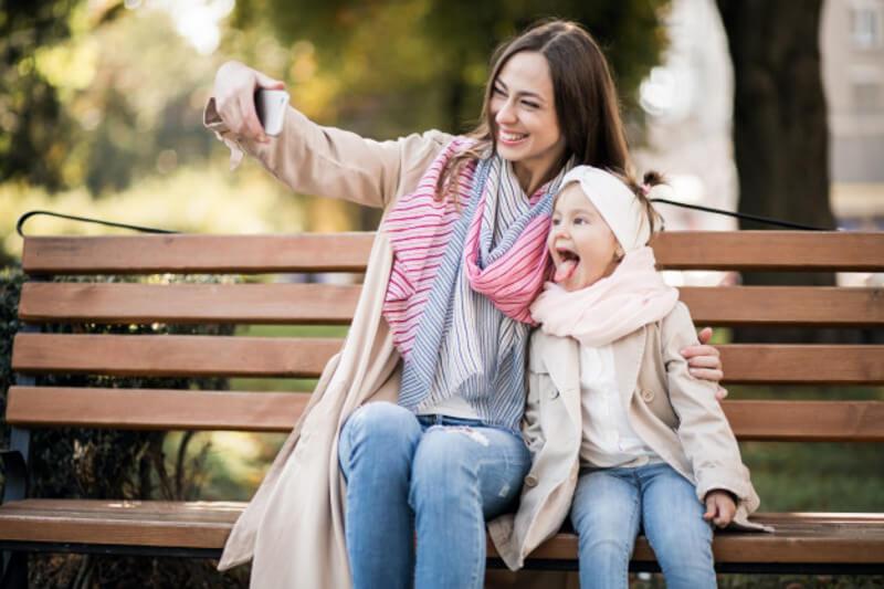 Selfie com filhos