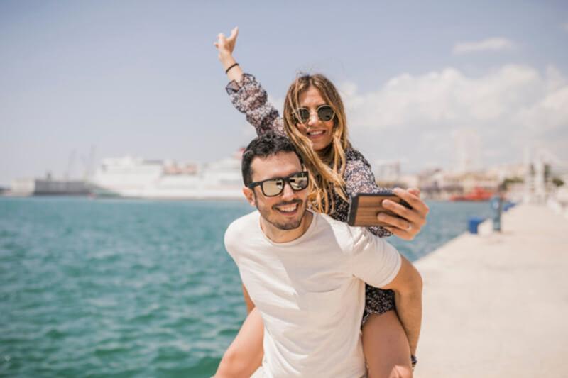 Selfie com namorado